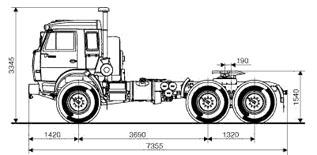 Схема Камаза 44108 (6x6)