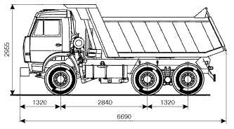 Схема Автомобиля Камаз 65115 (6х4)
