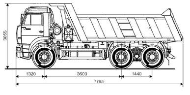 Схема Автомобиля Камаз 6520 (6х4)